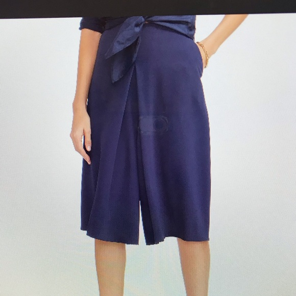 Lauren Ralph Lauren Pants - Lauren Ralph Lauren | $115 Blue Pleated Culotte